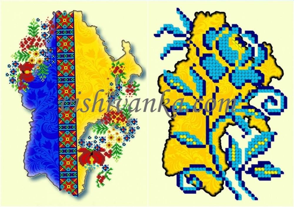 схема вышивки бисером карты украины