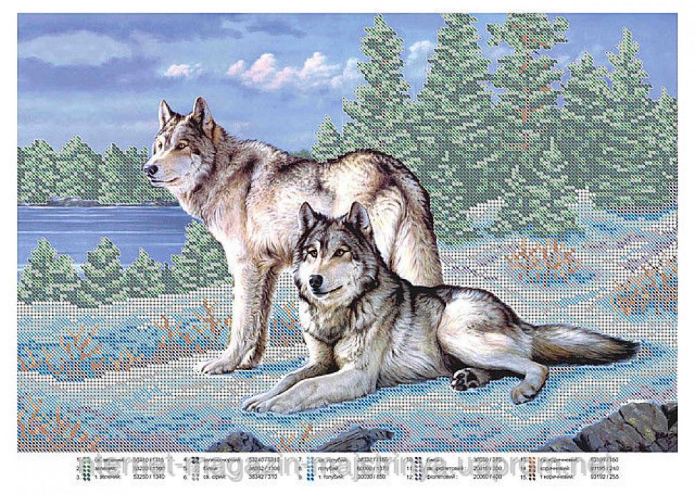 Волчица схема для вышивки