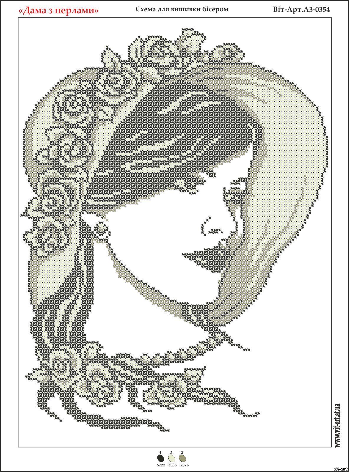 Вышивки схемы дама в шляпе монохром 29