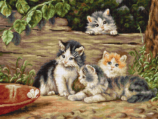 Вышивки крестом кошки фото 36