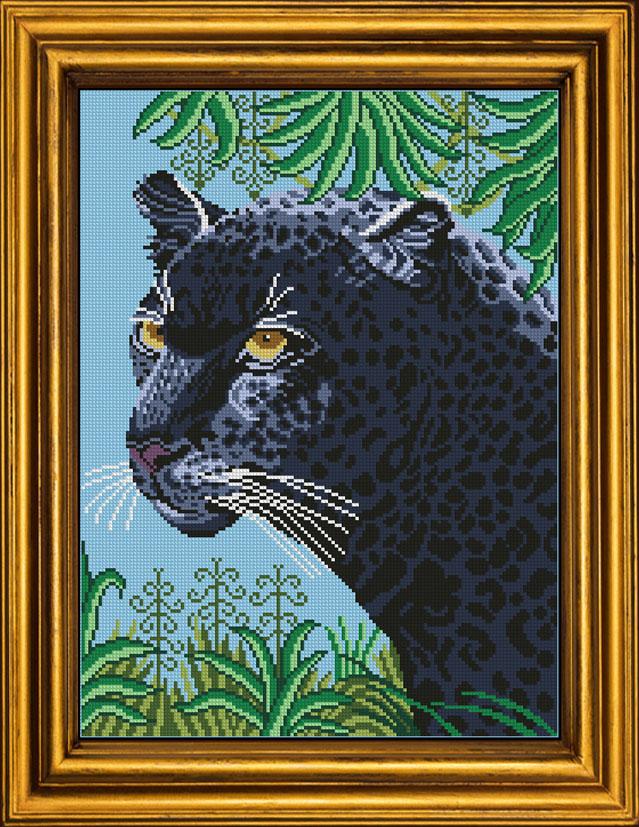 Вышивка черная пантера 38