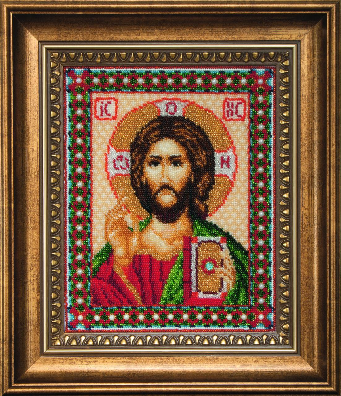 Красивый иисус вышивка бисером