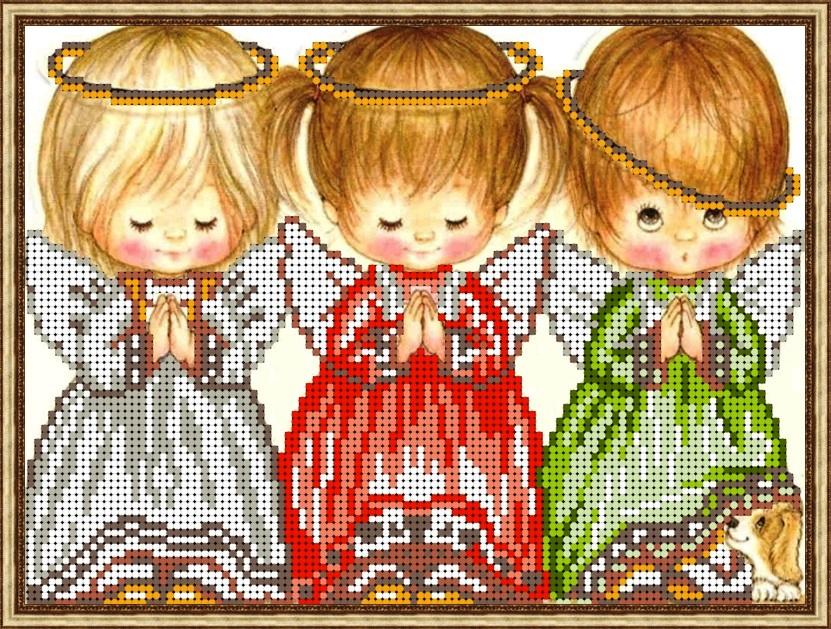 Схемы для вышивки три ангелочка 53