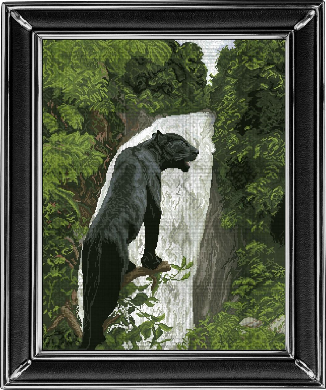 Вышивка черная пантера 16