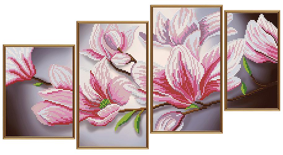 Вышивка крестом схемы цветы триптихи