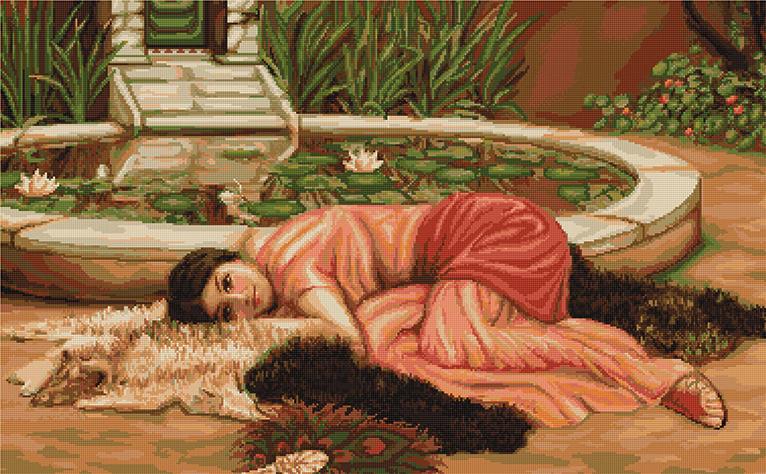 Вышивка с репродукции картины 464