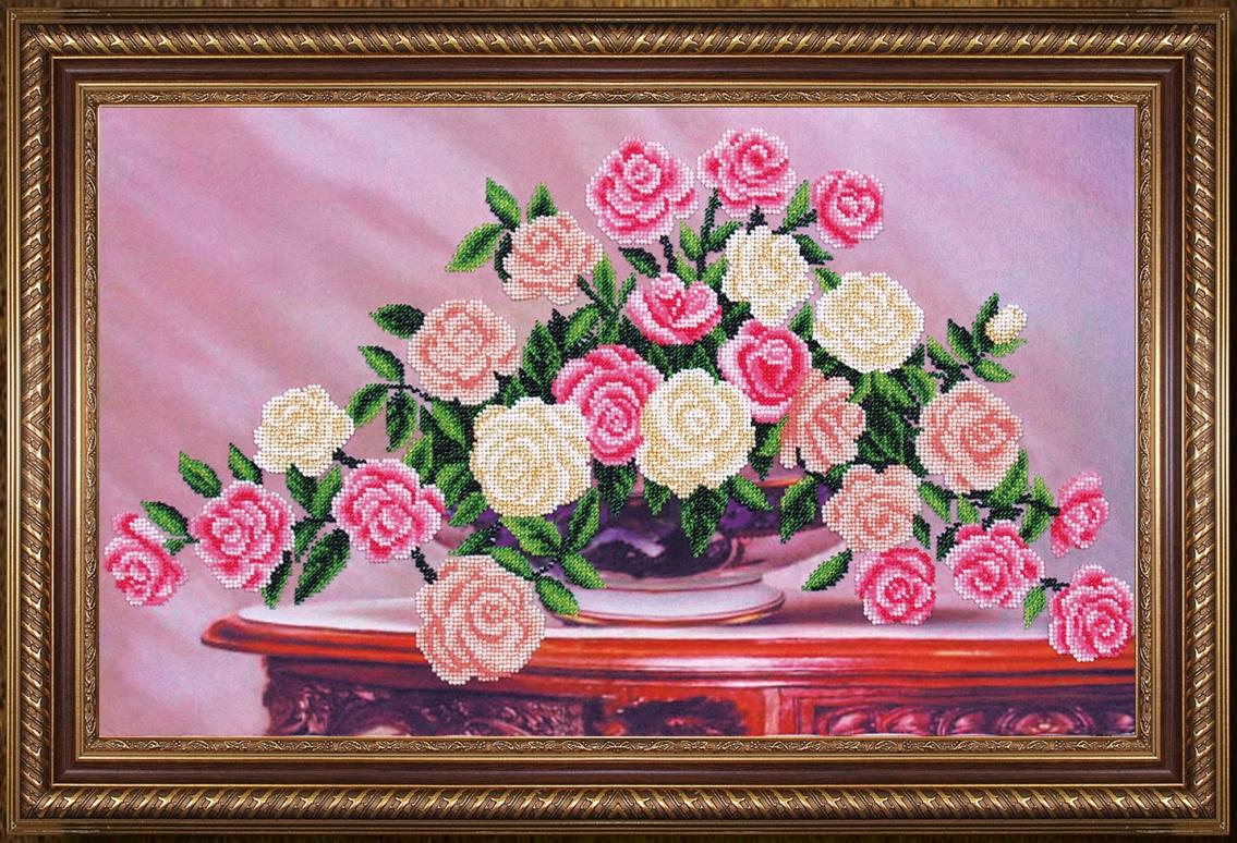 Вышивка цветы большие картины 39