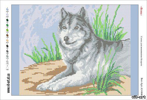 Волки вышивка бисером схемы 64