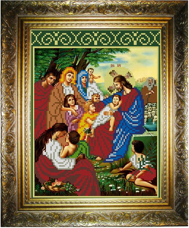 Икона благословение детей бисером вышивка