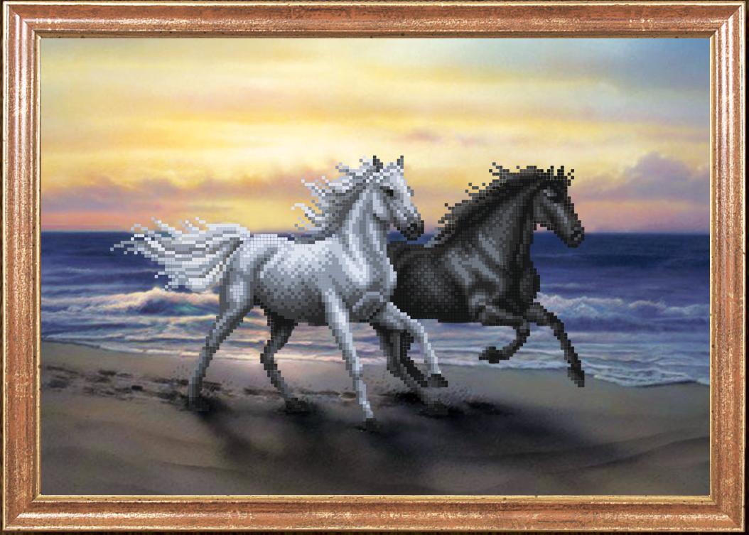 Вышивка лошади из моря 70