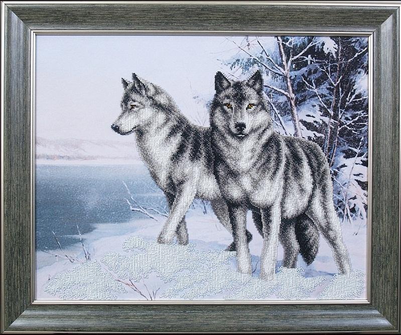 Волки вышивки бисером 65