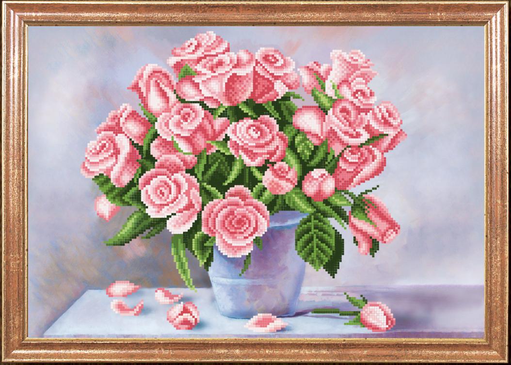 Рисунок розы для вышивки бисером 50