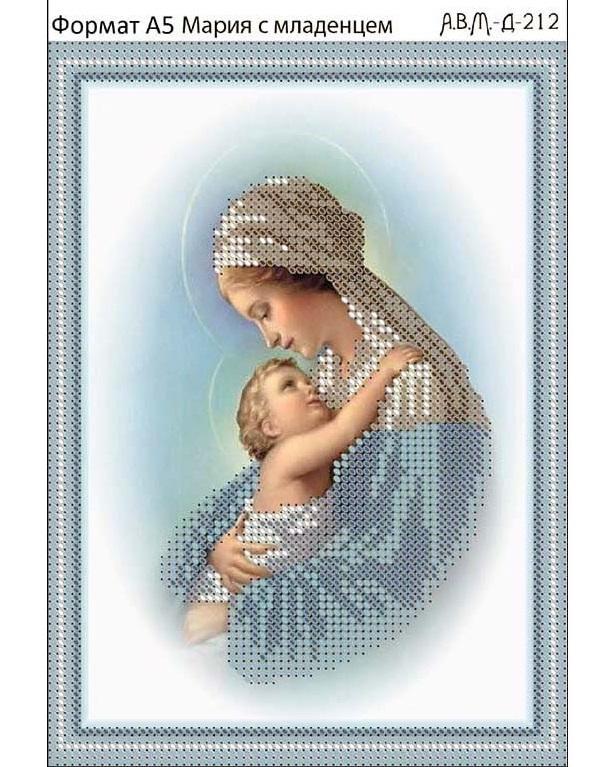 Вышивка крестом мария с младенцем 60