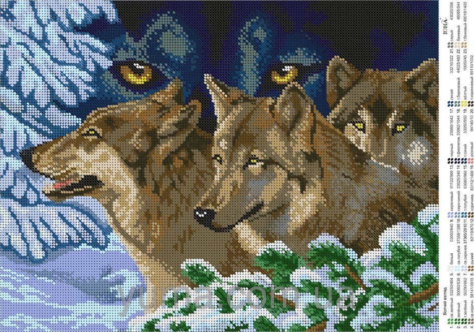 Волки вышивка бисером схемы 13