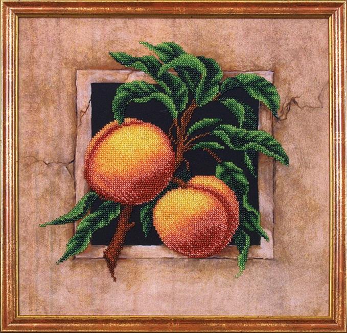 Алмазная вышивка персики 43
