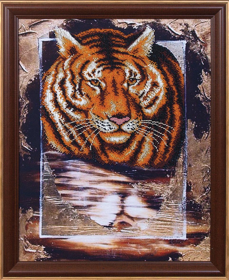 Вышивание бисером тигр
