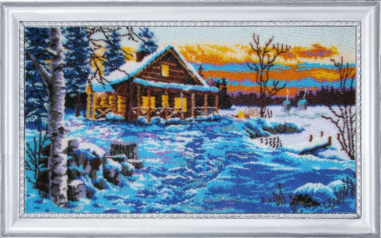Вышивка картина зимний вечер 5
