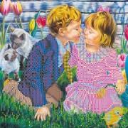 Рисунок на ткани для вышивки бисером Первый поцелуй