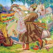 Рисунок на ткани для вышивки бисером Танец