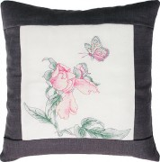 Набор подушки для вышивки крестом Бабочка и цветочек 2