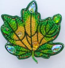 Набор для изготовления броши из бисера Осенний лист 1 А-строчка АБН-001