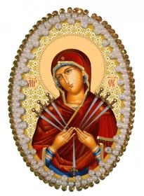 Набор для изготовления подвески Богородица Семистрельная Zoosapiens РВ3212 - 128.00грн.