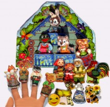 Набор для изготовления игрушки из фетра для вышивки бисером Пальчиковый театр. 6 сказок Баттерфляй (Butterfly) Т002