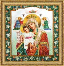Набор для вышивки бисером Икона Божией Матери Достойно есть, , 855.00грн., Р-353, Картины бисером, Иконы 26*35 (А3)