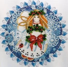 Набор для вышивки бисером на холсте Рождественский ангел Абрис Арт АМ-184 - 106.00грн.