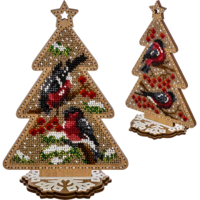 Набор для вышивки  бисером по дереву Снегири Волшебная страна FLK-300 - 370.00грн.