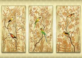 Схема для вышивки бисером на атласе Райский сад, , 394.00грн., АР2-010, А-строчка, Картины из нескольких частей