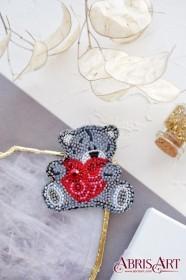 Набор для вышивки украшения Влюбленный мишка