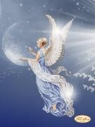 Схема для вышивки бисером на атласе Ангел Согласия