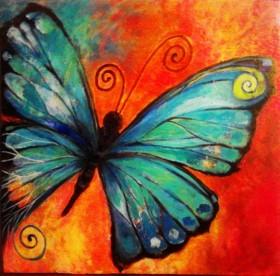 Набор для выкладки алмазной мозаикой Рисунок бабочки
