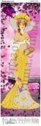 Схема вышивки бисером на атласе Панно Цветочная леди