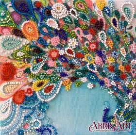 Набор-мини для вышивки бисером на натуральном художественном холсте Красочный шлейф