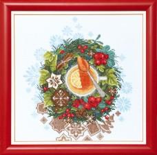 Набор для вышивки крестом Рождественский чай Cristal Art ВТ-079