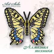 Набор-магнит для выкладки алмазной мозаикой Махаон (Papilio machaon)