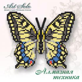 Набор-магнит для выкладки алмазной мозаикой Махаон (Papilio machaon), , 110.00грн., БАТ03, Art Solo, Открытки, магниты