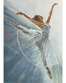 Схема для вышивки бисером на габардине Прима -балерина