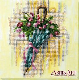 Набор-миди для вышивки бисером на натуральном художественном холсте Зонтик и тюльпаны Абрис Арт AMB-032 - 219.00грн.