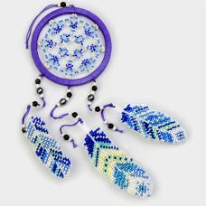 Набор для вышивания бисером на пластиковой основе Ловец снов Волшебная страна FLPL-032