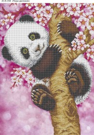 Схема для вышивки бисером на габардине Пора цветения, , 70.00грн., А3-К-358, Acorns, Коты, бабочки, волки и птицы