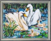 Набор для вышивки бисером Лебединая семья