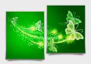 Схема для вышивки бисером на атласе Ажурные бабочки (зеленый) Диптих