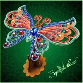 Набор для вышивки бисером Ажурная бабочка 3D 089