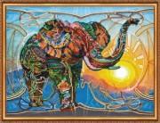 Набор для вышивки бисером Мозаичный слон
