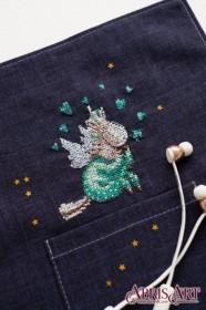 Набор для вышивки крестом на одежде В пижамке