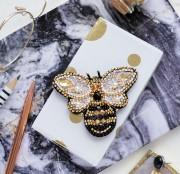 Набор для вышивки бисером украшения Золотая пчелка