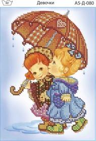 Схема для вышивки бисером на габардине Девочка Acorns А5-Д-080 - 30.00грн.